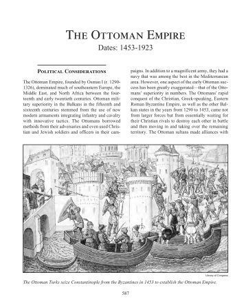 ming china and the ottoman empire essay Ming dynasty essaysin 1407 ad in the ming dynasty china the emperor zhu di began his unprecedented project of building a massive fleet of giant treasure ships and cannon armed naval escorts in order to induce tribute from neighboring countries and spread the image of his grand empire.