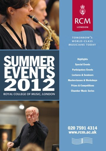 Summer Season Event Guide - Royal College of Music