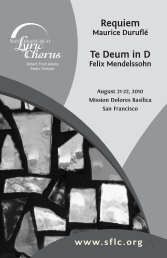 Requiem Te Deum in D - San Francisco Lyric Chorus