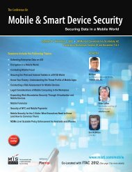 The Conference on Mobile & Smart Device Security - MIS Training ...