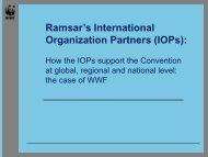 Presentation (PDF) - Ramsar Convention on Wetlands