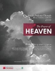 View the Program - South Dakota Chorale