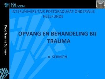 OPVANG EN BEHANDELING BIJ TRAUMA - Belsurg