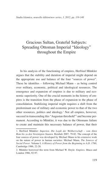 Gracious Sultan, Grateful Subjects: Spreading Ottoman Imperial ...
