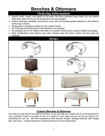 Benches & Ottomans - Superior Design Products