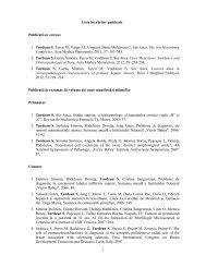 Lista lucrărilor publicate Publicaţii in extenso 1. Turdean S, Turcu M ...