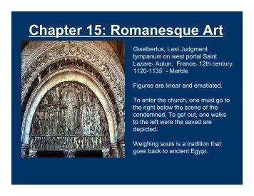 Chapter15 Romanesque Art - TeacherWeb
