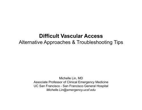 Difficult Vascular Access