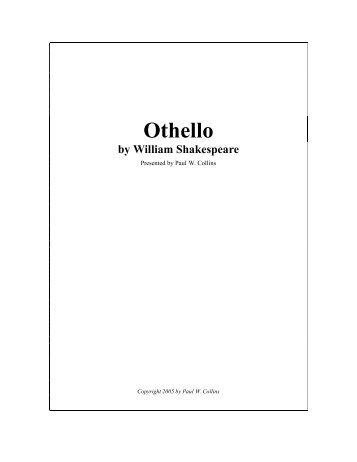 Othello: Act II Study Questions Scene i 1. Explain the