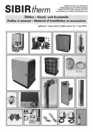 Ölöfen – Einzel- und Ersatzteile Poêles à mazout – Matériel d ...