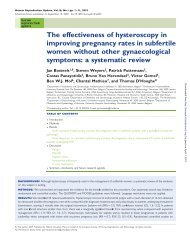 The effectiveness of hysteroscopy in improving pregnancy rates in ...