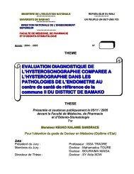EVALUATION DIAGNOSTIQUE DE L'HYSTEROSONOGRAPHIE ...