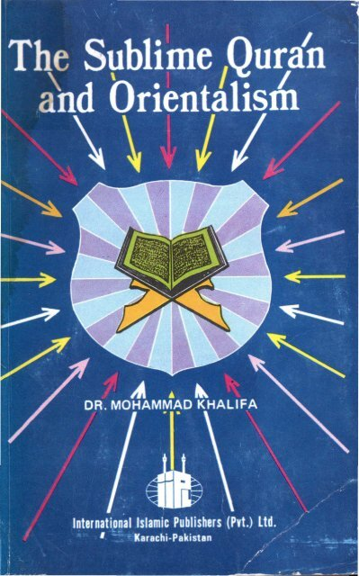 The Sublime Quran and Orientalism - The Islamic Search Center