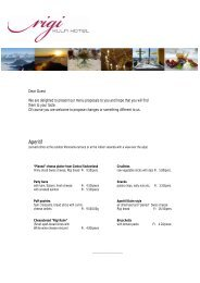 Menu proposals - Rigi Kulm Hotel