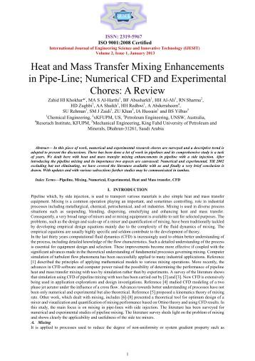 heat and mass transfer lab 1 Chme-301 fluid dynamics and heat transfer lab 1 credits corequisites: chme-200 , chme-300 , math-204 prerequisites: none minimum class standing: junior terms offered: summer, fall this laboratory course demonstrates the application of fluid mechanics, heat and mass transfer in chemical engineering.