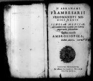N. Abrahami Frambesarii ... Scholae medicae, ad canditatorum [sic ...