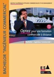 Documentation Bachelor Ingénieur Commercial - ISECOMA