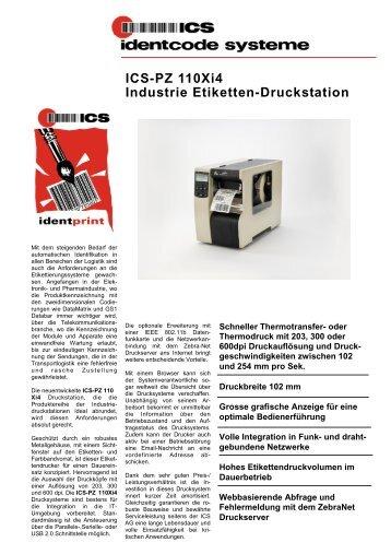 ICS-PZ 110Xi4 Industrie Etiketten-Druckstation - ICS Identcode ...