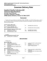IQI 21 Cesarean Delivery Rate - Quality Indicators
