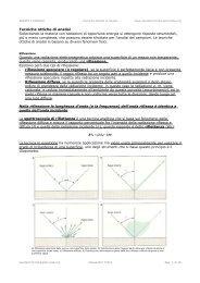 Tecniche ottiche di analisi Sollecitando la materia con radiazioni di ...
