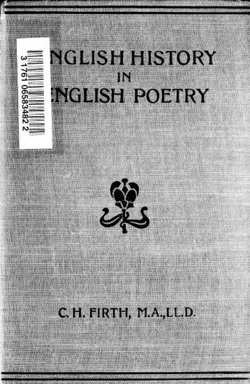English history in English poetry, from the French revolution to the ...