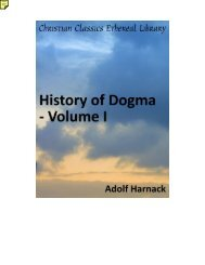 History of Dogma - Volume I - The Knowledge Den
