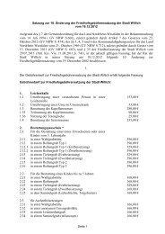 10. Änderungssatzung zur Friedhofsgebührensatzung - Stadt Willich