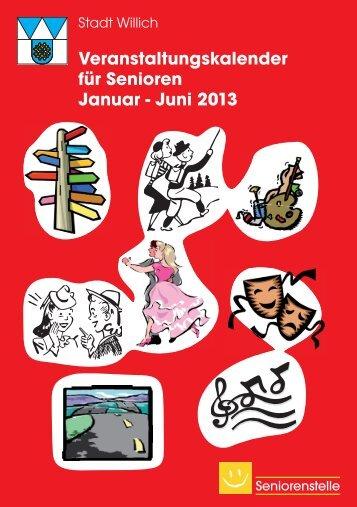 Veranstaltungskalender 1. Halbjahr 2013 - Stadt Willich