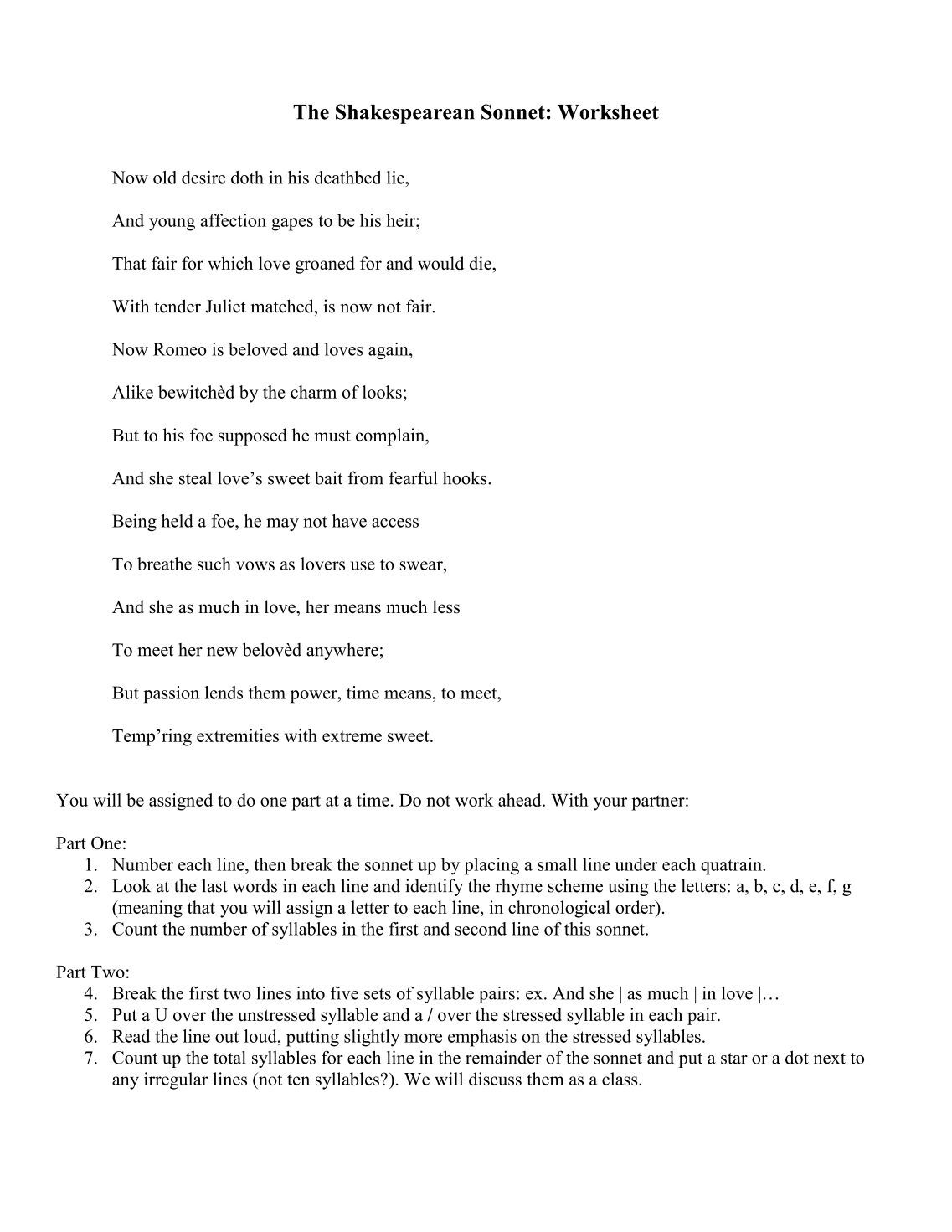 Worksheet Sonnet Worksheet 5 free magazines from windsorhs com com
