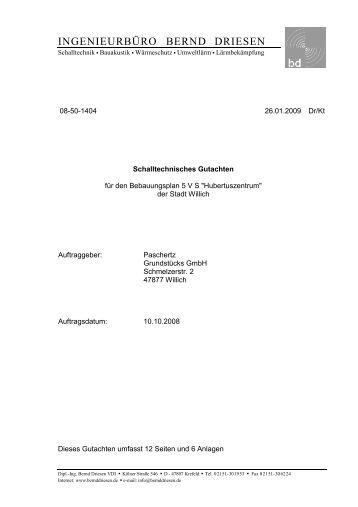 Schalltechnisches Gutachten (3136 KB), Pdf-Datei - Stadt Willich