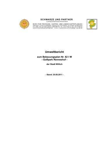 nicht barrierefrei:Begründung Anlage 1 Umweltbericht -  Stadt Willich