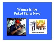 Women in the United States Navy - Naval History and Heritage ...