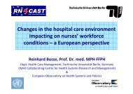 Changes in the hospital care environment impacting on nurses ...