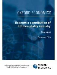 BHA - Economic Contribution of UK Hospitality Industry - British ...