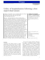 Utility of hospitalization following a first unprovoked seizure