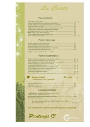 Printemps 13 - Brasserie Le Cardinal Neuchâtel