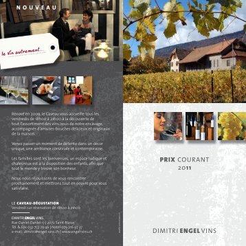 DIMITRI ENGEL VINS PRIX COURANT 2011