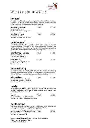 Weinkarte (PDF) - Hotel Silvana