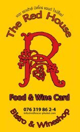 download the Red House Bistro & Wineshop menu