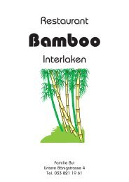 Restaurant Interlaken - Bamboo | China Restaurant