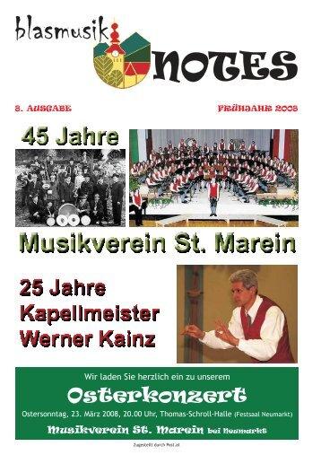 blasmusik notes 2008 - Musikverein St. Marein b. Neumarkt