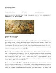 rubens leads eight picture collection to be offered at christie's in ...