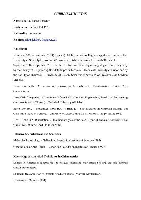 CV - N_Dehanov pdf - Laboratory of Polymer Reaction Engineering