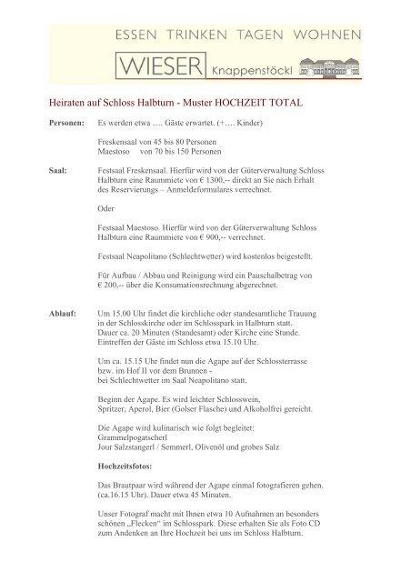 Heiraten Auf Schloss Halbturn Muster Hochzeit Total