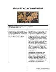 PELOPS AND OENOMAUS - chresteria.dk