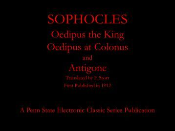 SOPHOCLES - Penn State University