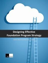 Designing Effective Foundation Program Strategy