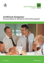 WIFI Zertifizierte Kompetenz