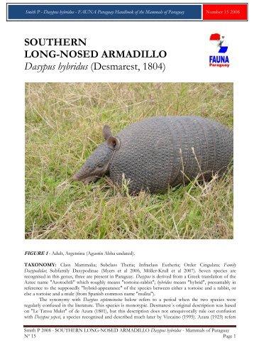 Smith P 2008 - FAUNA Paraguay
