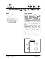RE46C144 - CMOS Photoelectric Smoke Detector ASIC ... - Micros